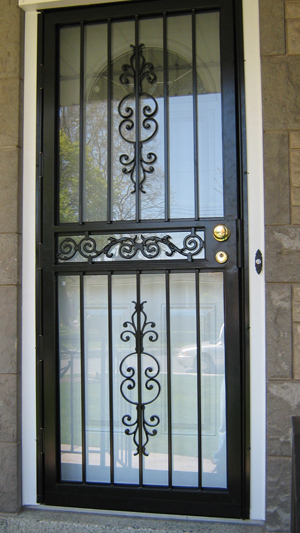 Security Storm Door. Image Number 5 Of Door Grilles Prices . & Grill Door Cost \u0026 Mark ... Pezcame.Com